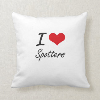 I love Spotters Throw Pillows