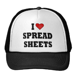 I LOVE SPREAD SHEETS TRUCKER HAT