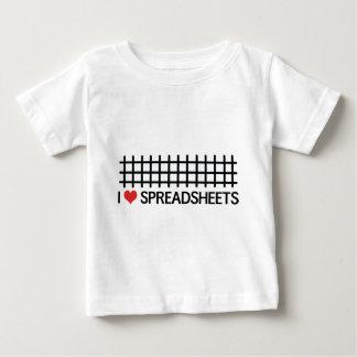 I love spreadsheets baby T-Shirt