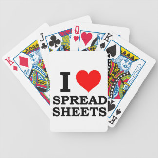 I Love Spreadsheets Bicycle Playing Cards