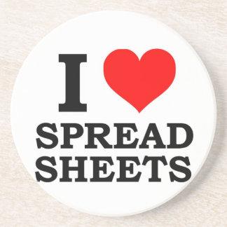 I Love Spreadsheets Coaster