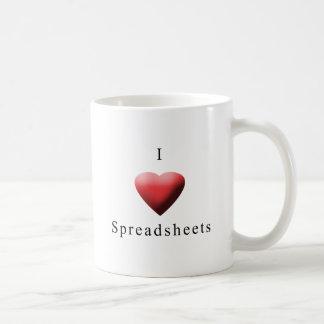I Love Spreadsheets Coffee Mugs
