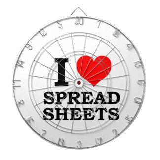 I Love Spreadsheets Dartboard With Darts