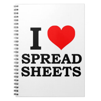 I Love Spreadsheets Notebook