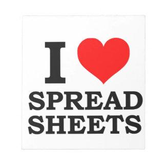 I Love Spreadsheets Notepad