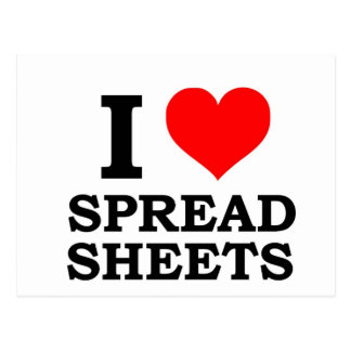 I Love Spreadsheets Post Card