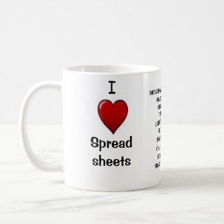 I Love Spreadsheets - Rude Reasons Why! Coffee Mug