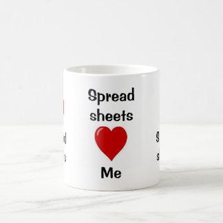 I Love Spreadsheets - Spreadsheets Love Me Coffee Mug