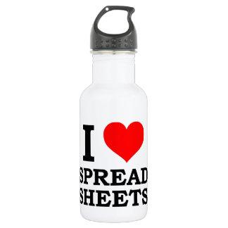 I Love Spreadsheets Stainless Steel Water Bottle
