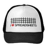 I love spreadsheets trucker hat