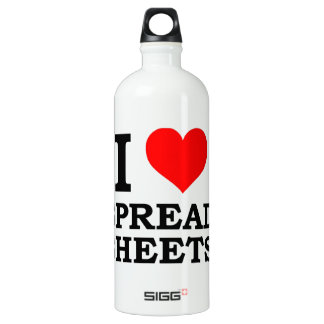 I Love Spreadsheets Water Bottle