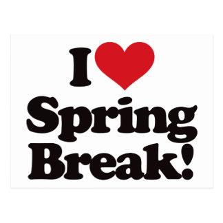 I Love Spring Break! Postcard