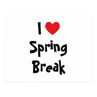 I Love Spring Break Postcard