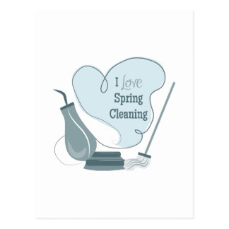 I Love Spring Cleaning Postcard