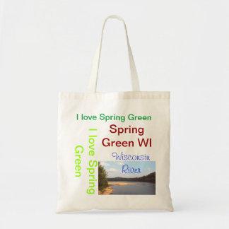 I LOVE Spring Green tote