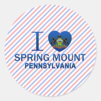 I Love Spring Mount, PA Classic Round Sticker