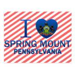 I Love Spring Mount, PA Postcard