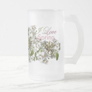 I love Spring White Blossoms Mug