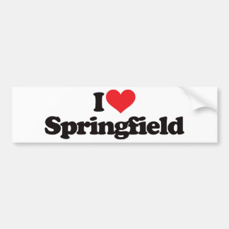 I Love Springfield Car Bumper Sticker