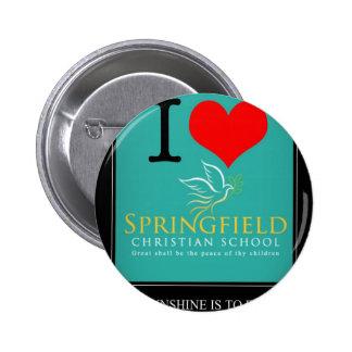 I Love Springfield Christian School Pinback Buttons