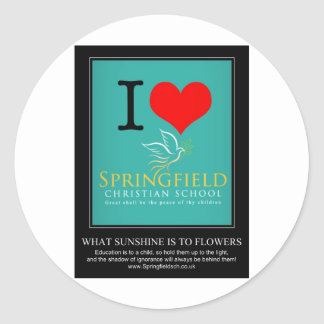 I Love Springfield Christian School Classic Round Sticker
