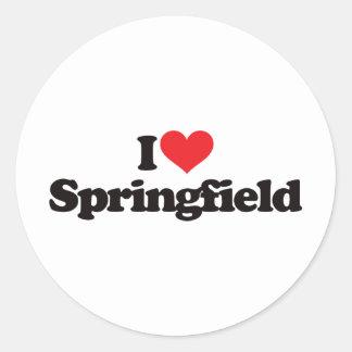 I Love Springfield Classic Round Sticker
