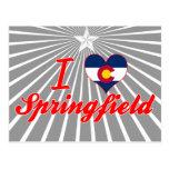 I Love Springfield, Colorado Postcard