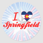 I Love Springfield, Colorado Round Sticker