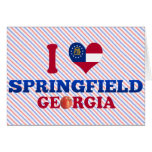 I Love Springfield, Georgia Greeting Card