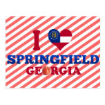 I Love Springfield, Georgia Postcard