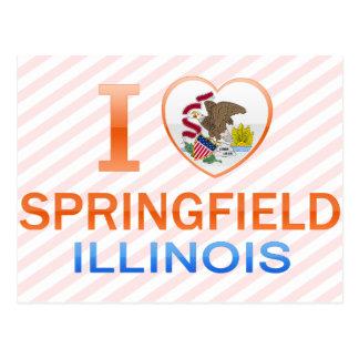 I Love Springfield, IL Postcard