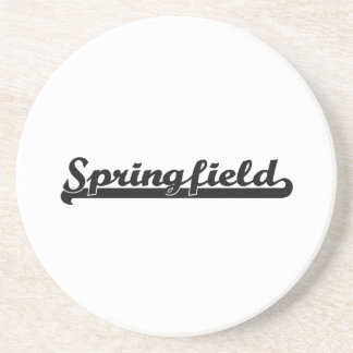 I love Springfield Illinois Classic Design Beverage Coaster