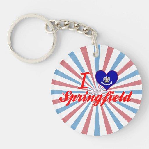 I Love Springfield, Louisiana Single-Sided Round Acrylic Keychain
