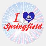 I Love Springfield, Louisiana Classic Round Sticker
