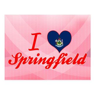 I Love Springfield, Mainea Postcard