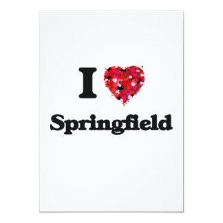I love Springfield Massachusetts 5x7 Paper Invitation Card