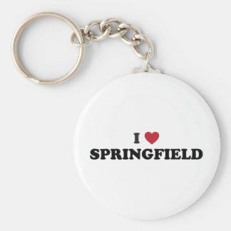 I Love Springfield Massachusetts Keychain