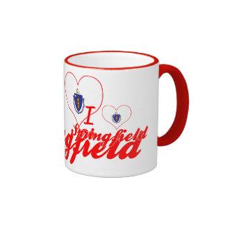 I Love Springfield, Massachusetts Coffee Mugs