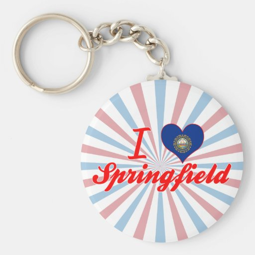 I Love Springfield, New Hampshire Keychains
