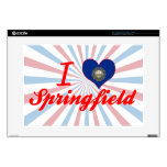 I Love Springfield, New Hampshire Decals For Laptops