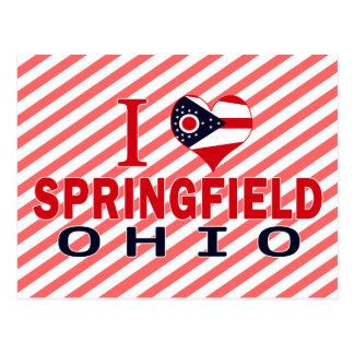 I love Springfield, Ohio Postcard