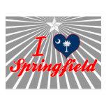 I Love Springfield, South Carolina Post Cards