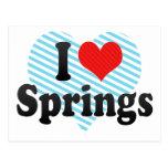 I Love Springs Postcard