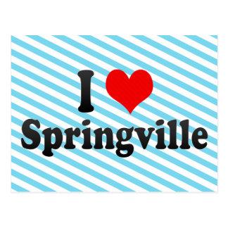 I Love Springville, United States Postcard