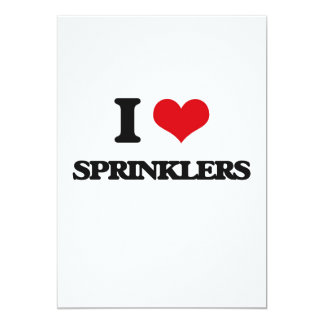I love Sprinklers 5x7 Paper Invitation Card