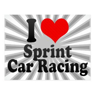 I love Sprint Car Racing Postcard