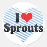 I Love Sprouts Sticker