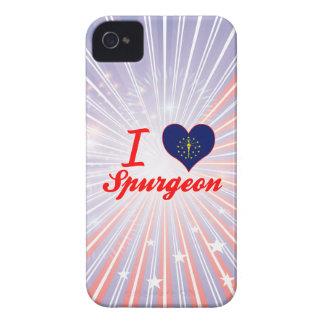 I Love Spurgeon, Indiana iPhone 4 Case-Mate Case