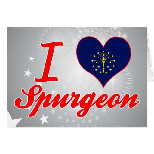 I Love Spurgeon, Indiana Greeting Card