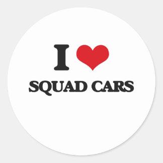 I love Squad Cars Classic Round Sticker